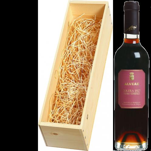 Wijnkist met Alvear Montilla-Moriles Pedro Ximenez Solera 375ml. 1927