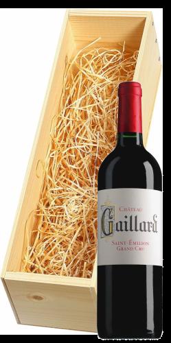 Wijnkist met Chateau Gaillard Saint-Émilion Grand Cru