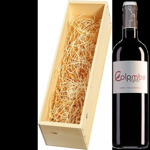 Wijnkist met Chateau Peyrou Castillon Cotes de Bordeaux Colombe de Peyrou