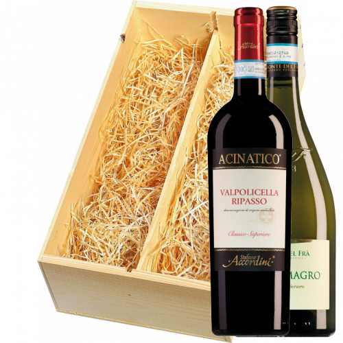 Wijnkist met Monte del Fra Ca del Magro en Stefano Accordini Valpolicella Ripasso