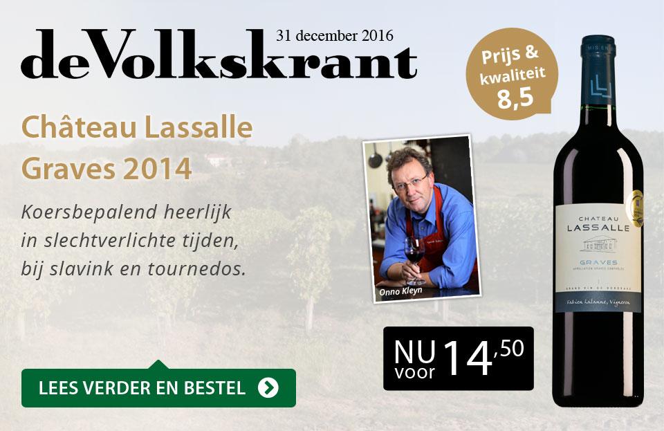 De Volkskrant - Chateau Lassalle Graves 2014 - zwart/goud