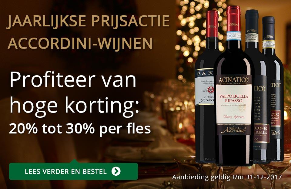Jaarlijkse prijsactie Accordini wijnen
