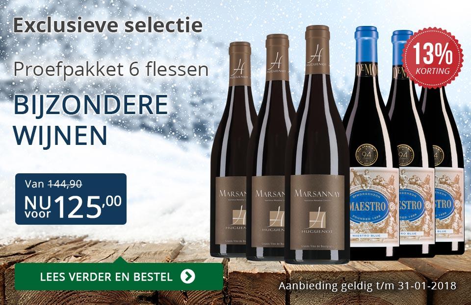 Proefpakket bijzondere wijnen januari 2018 (125,00) - blauw