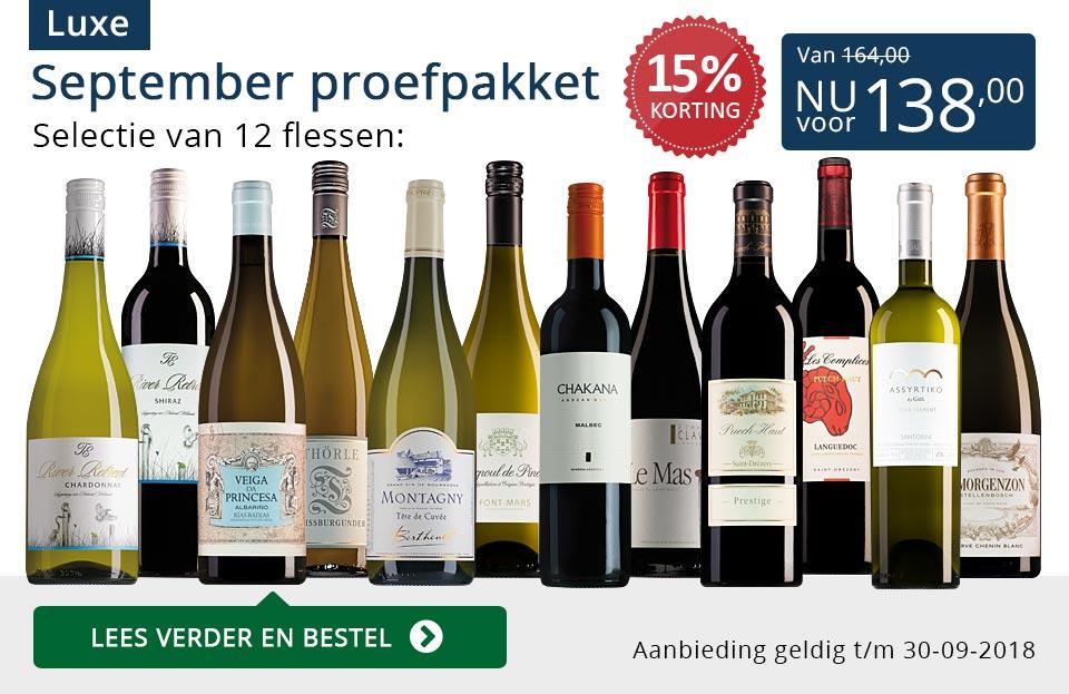 Proefpakket luxe wijnbericht september 2018 (138,00) - blauw
