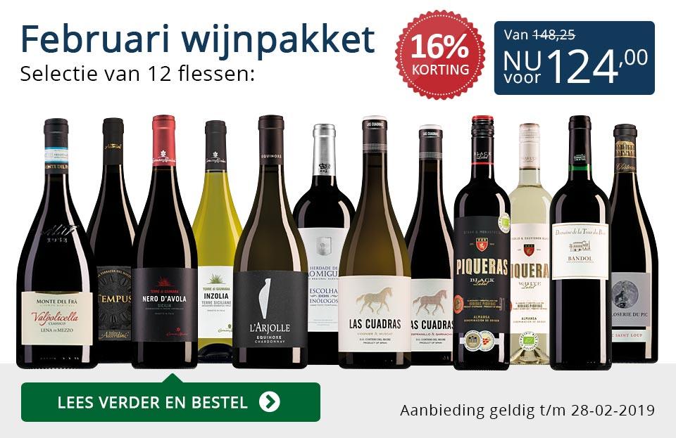 Wijnpakket wijnbericht februari 2019 (124,00) - blauw