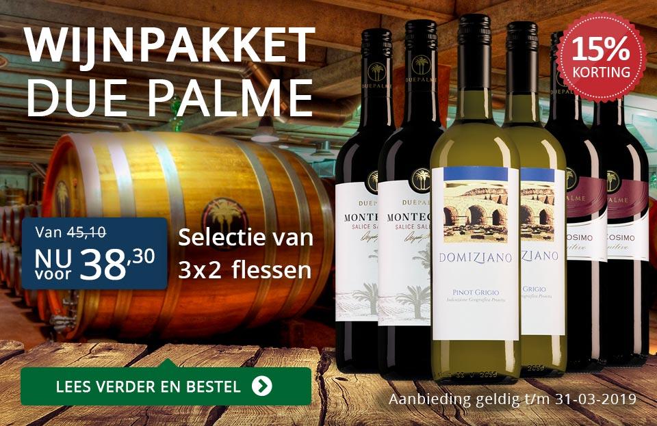 Wijnpakket Due Palme (38,30) - blauw