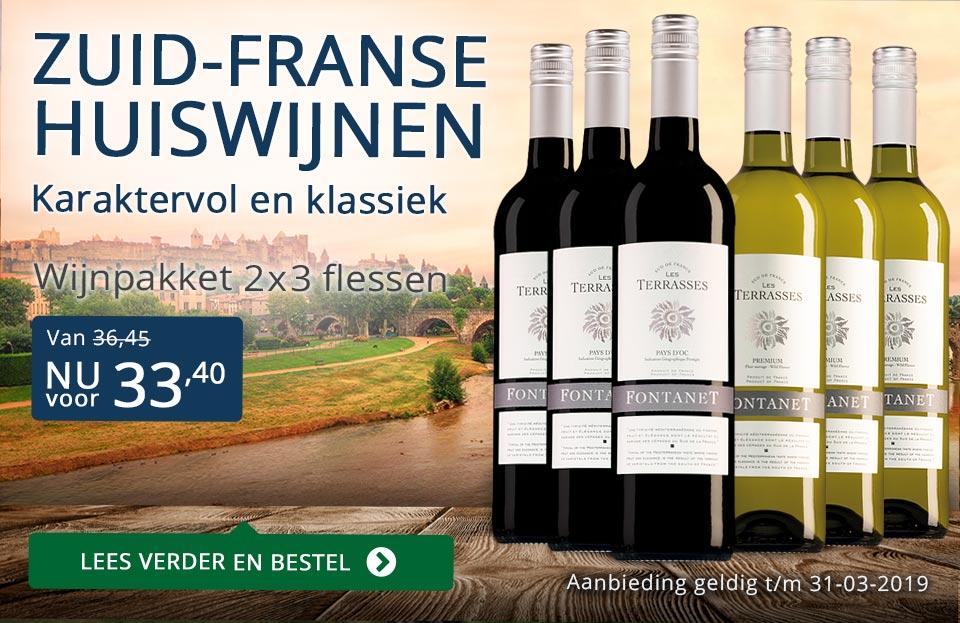 Wijnpakket Fontanet maart 2019 - blauw