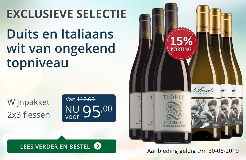 Wijnpakket bijzondere wijnen juni 2019 (95,00) - blauw