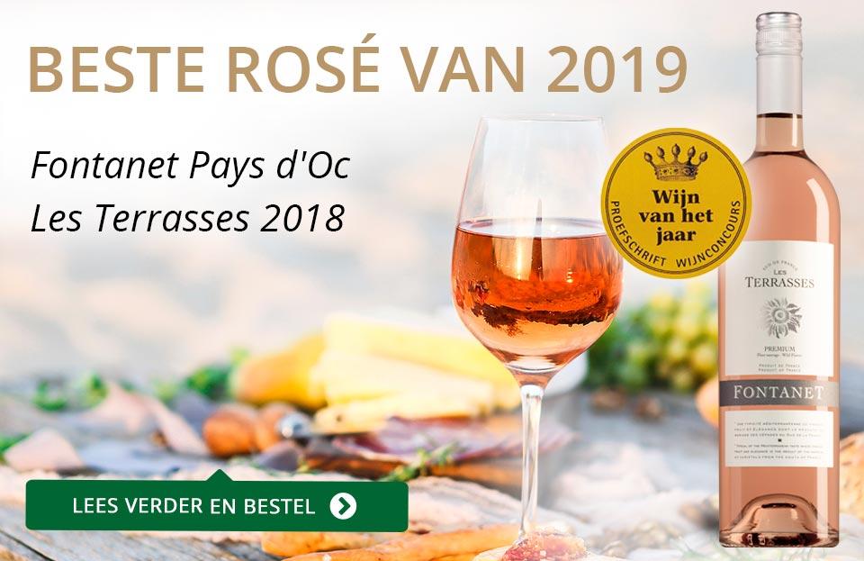 Proefschrift Wijnconcours 2019: Fontanet Rosé van het Jaar - grijs/goud