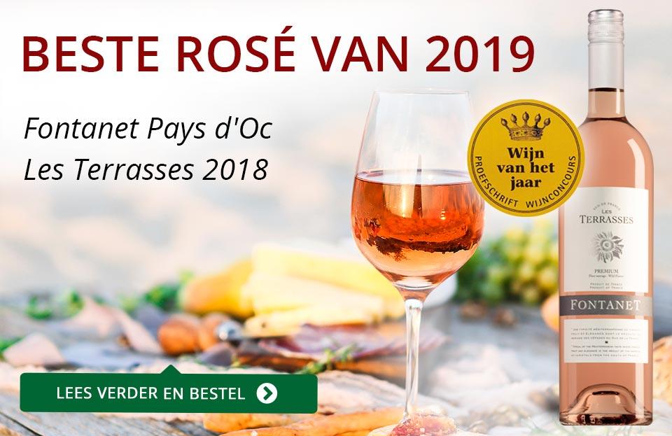 Proefschrift Wijnconcours 2019: Fontanet Rosé van het Jaar - rood