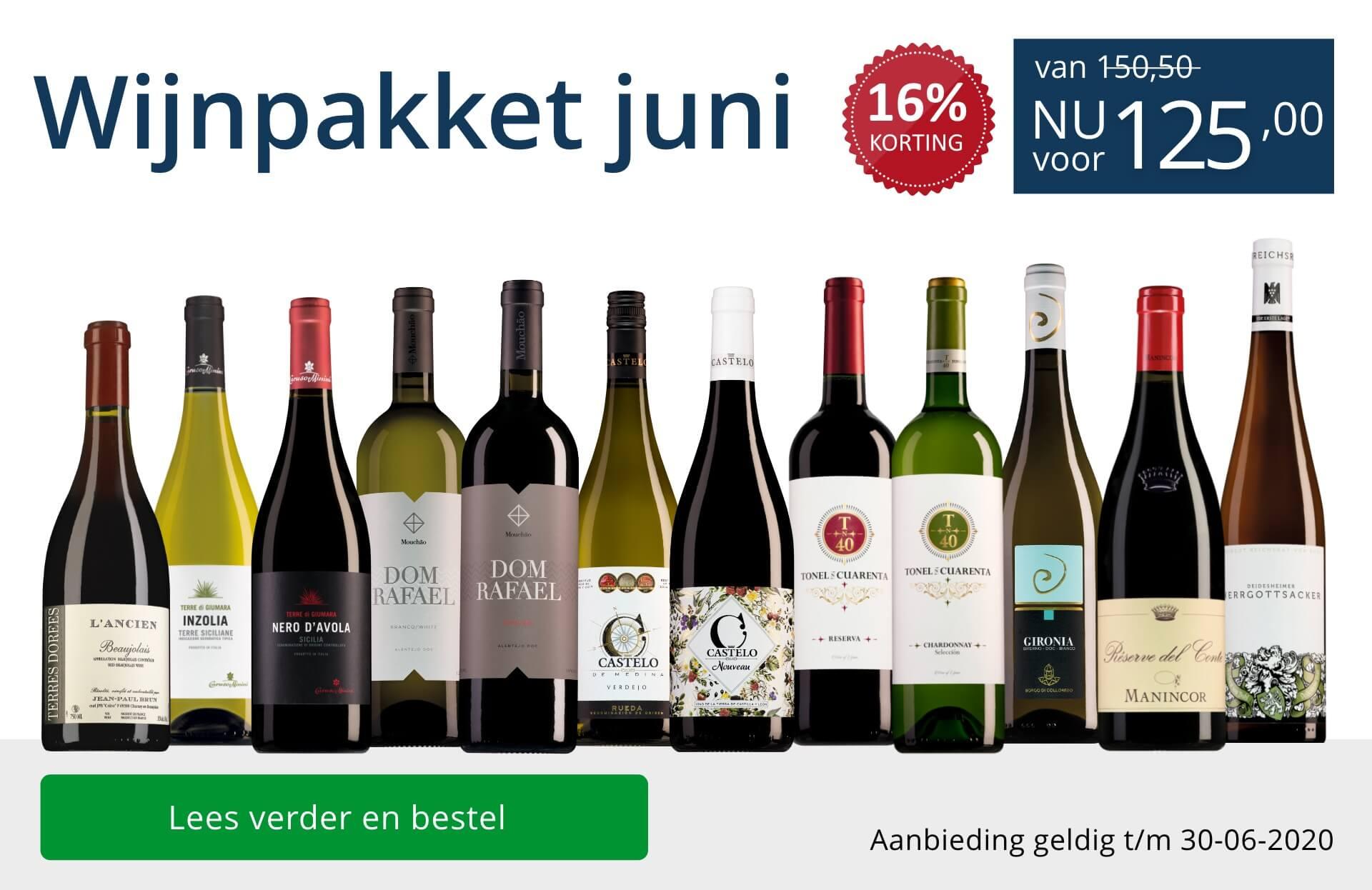 Wijnpakket wijnbericht juni 2020 (125,00) - blauw