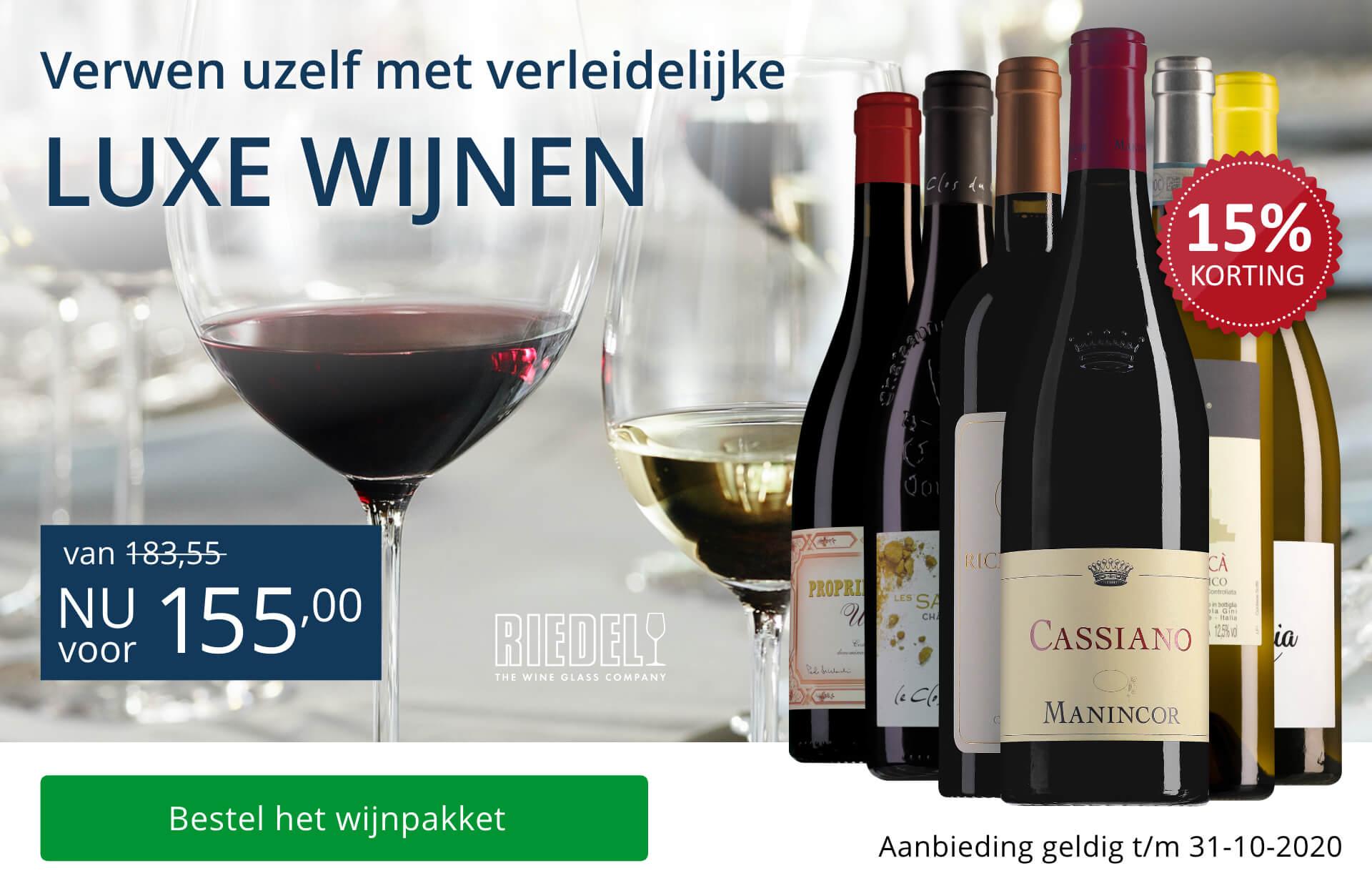 Wijnpakket luxe wijnen (155,00) - blauw
