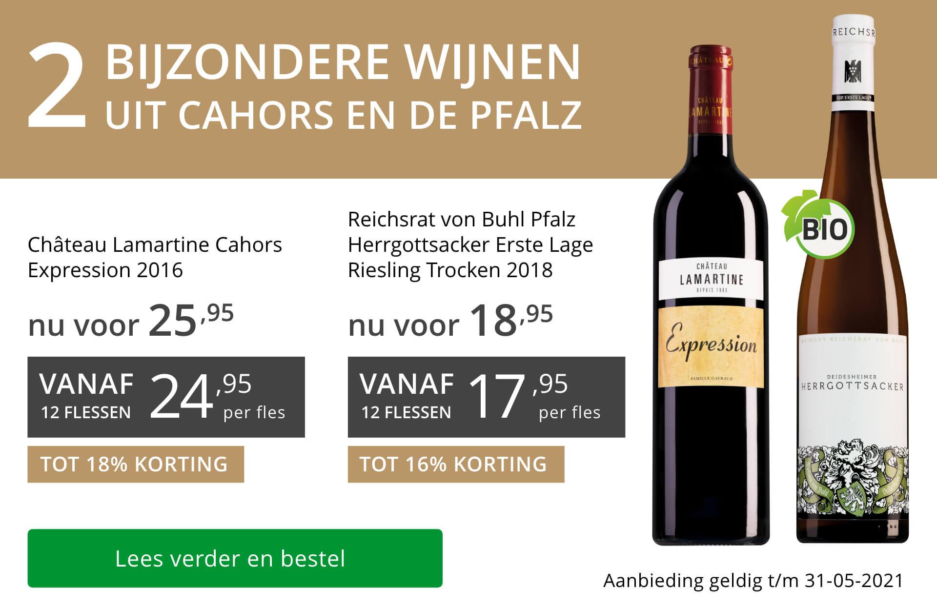 Twee bijzondere wijnen mei 2021 - grijs/goud