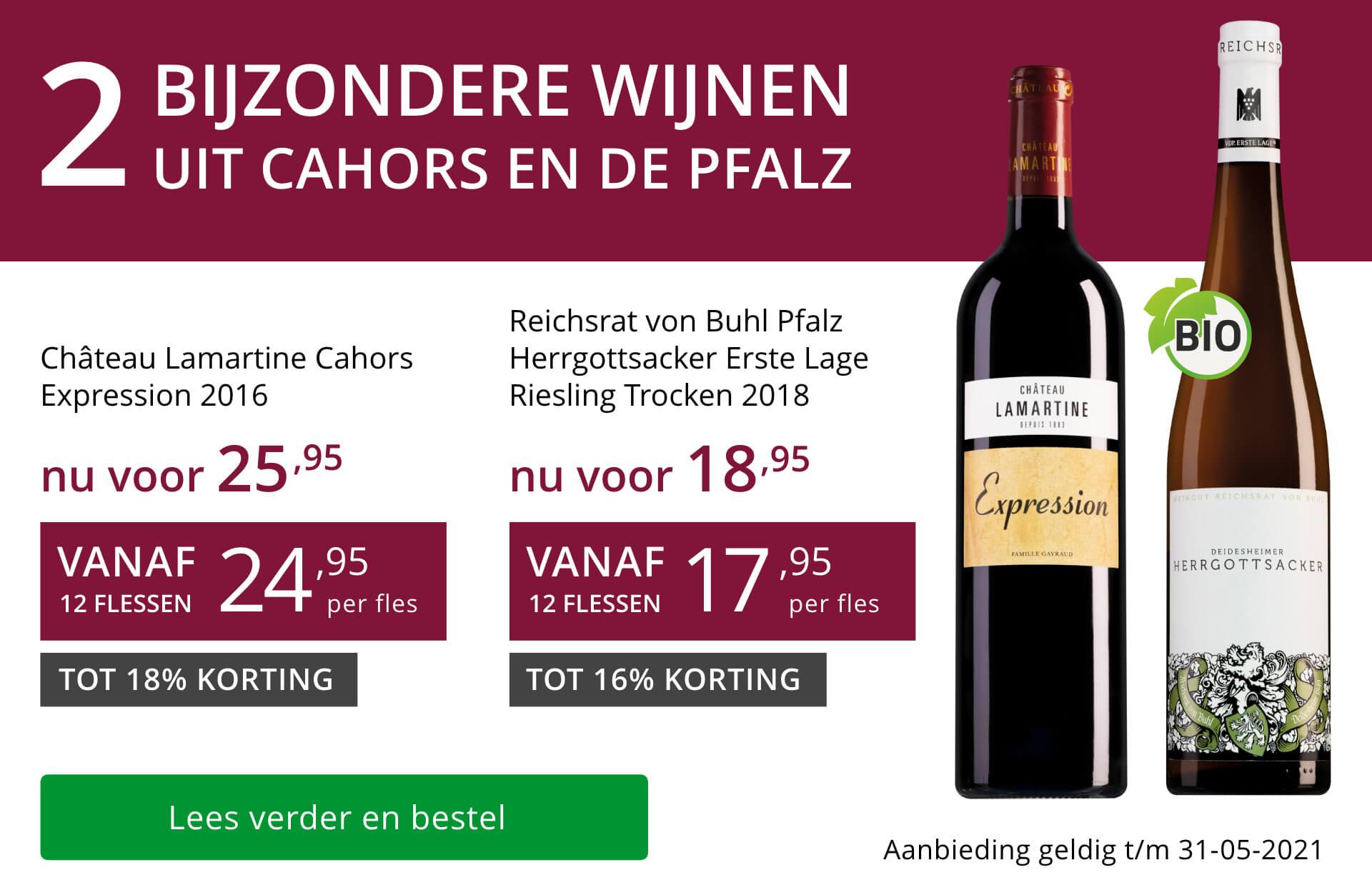 Twee bijzondere wijnen mei 2021 - paars