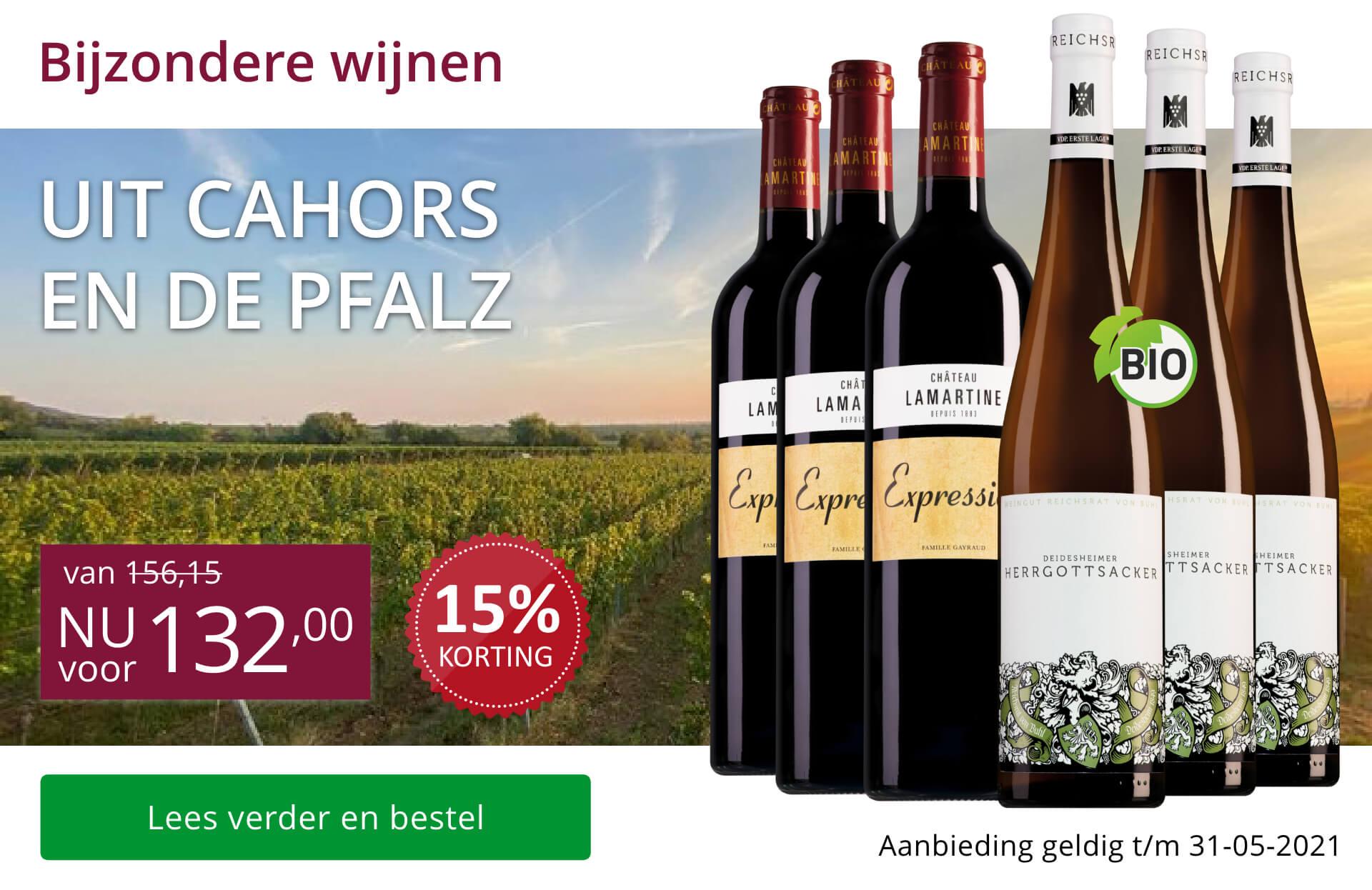 Wijnpakket bijzondere wijnen mei (132,00) - paars