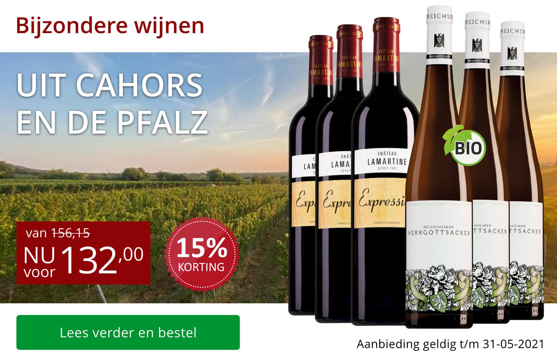 Wijnpakket bijzondere wijnen mei (132,00) - rood