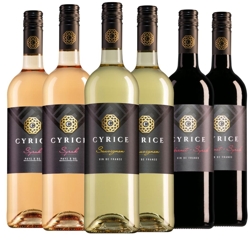 Wijnpakket Cyrice (3x2 flessen)