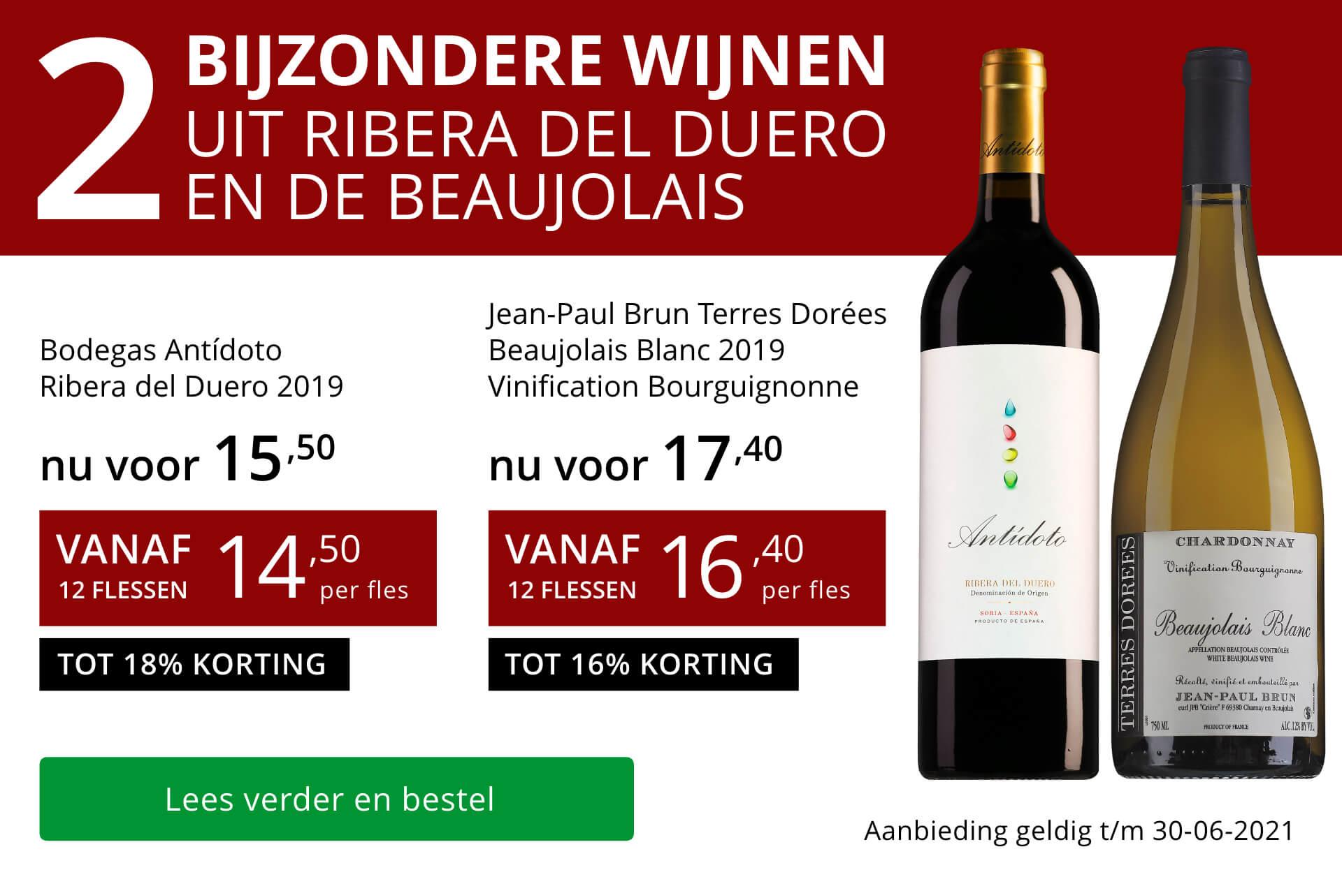 Twee bijzondere wijnen juni 2021 - rood