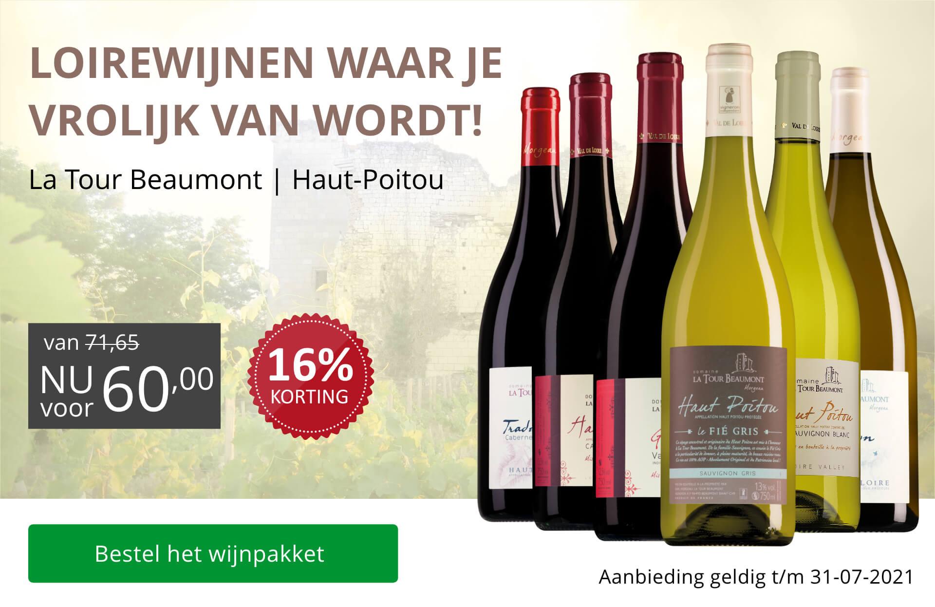 Wijnpakket La Tour Beaumont(60,00)
